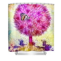 Good Luck Tree Shower Curtain by Mo T