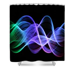 Good Vibrations Shower Curtain by Dazzle Zazz
