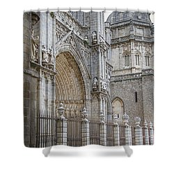Gothic Splendor Of Spain Shower Curtain by Joan Carroll