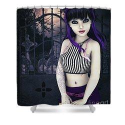 Gothic Temptation Shower Curtain by Jutta Maria Pusl