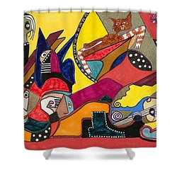 Gotta Go Shower Curtain by Dennis Davis