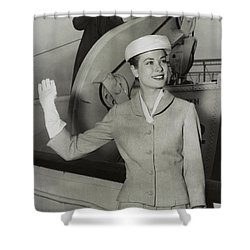Grace Kelly In 1956 Shower Curtain by Mountain Dreams