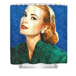 Grace Kelly Painting Shower Curtain by Gianfranco Weiss