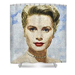 Grace Kelly Shower Curtain by Taylan Soyturk