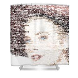 Grace Kelly Typo Shower Curtain by Taylan Soyturk