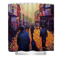 Grafton Street Dublin Shower Curtain by John  Nolan