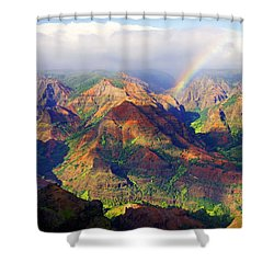 Grand Canyon Of The Pacific Shower Curtain by Kevin Smith