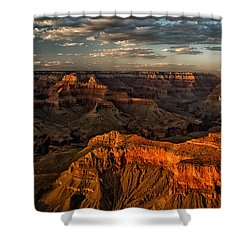 Grand Canyon Sunset Shower Curtain by Cat Connor