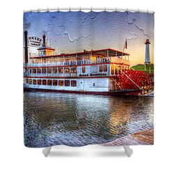 Grand Romance Riverboat Shower Curtain by Heidi Smith