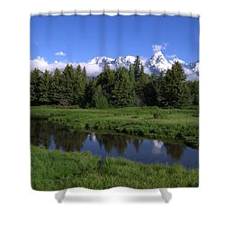 Grand Teton Reflection Shower Curtain by Brian Harig