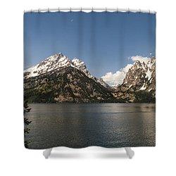 Grand Tetons On Jenny Lake 2 - Grand Teton National Park Wyoming Shower Curtain by Brian Harig
