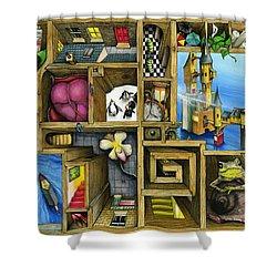 Grandma's Treasure Shower Curtain by Colin Thompson