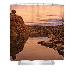 Granite Dells Shower Curtain by Priscilla Burgers