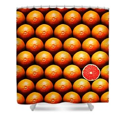 Grapefruit Slice Between Group Shower Curtain by Johan Swanepoel