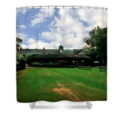 Grass Courts At The Hall Of Fame Shower Curtain by Michelle Calkins