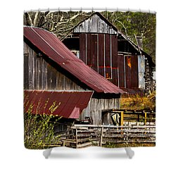 Great Grandpa's Place Shower Curtain by Debra and Dave Vanderlaan