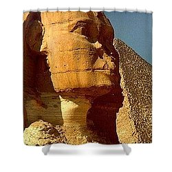 Shower Curtain featuring the photograph Great Sphinx Of Giza by Travel Pics