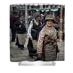 Great Weathered Faces Shower Curtain by Joan Carroll