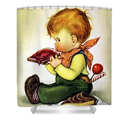 Greedy Petey Shower Curtain by Chalot Byi