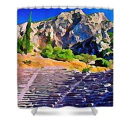 Greek Amphitheatre Shower Curtain by John Malone