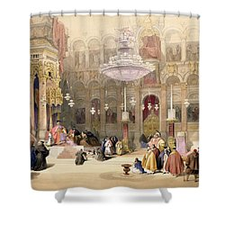 Greek Church Of The Holy Sepulchre Shower Curtain by David Roberts