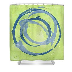 Green Blue Shower Curtain by Julie Niemela