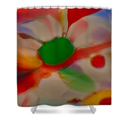 Green Butterfly Shower Curtain by Omaste Witkowski