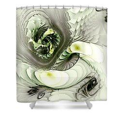 Green Dragon Shower Curtain by Anastasiya Malakhova