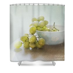 Green Grapes Shower Curtain by Cindy Garber Iverson