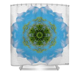 Green Planet Shower Curtain by Jeff Kolker