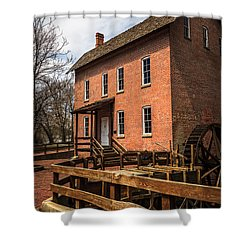 Grist Mill In Hobart Indiana Shower Curtain by Paul Velgos