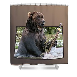 Grizzly Bear 6 Out Of Bounds Shower Curtain by Thomas Woolworth