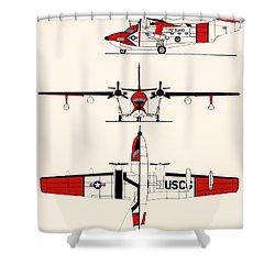 Grumman Hu-16e Albatross Shower Curtain by Mountain Dreams