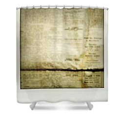 Grunge Newspaper Shower Curtain by Les Cunliffe