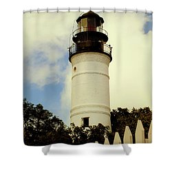 Guiding Light Of Key West Shower Curtain by Karen Wiles