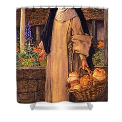 Guinevere Shower Curtain by Eleanor Fortescue Brickdale