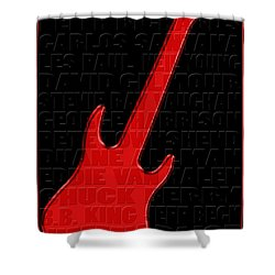 Guitar Players 1 Shower Curtain by Andrew Fare