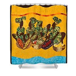 Gumbo Ladies Shower Curtain by Aisha Lumumba