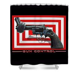 Gun Control Shower Curtain by Mike McGlothlen