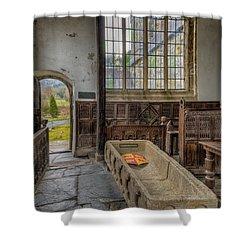 Gwydir Chapel Shower Curtain by Adrian Evans