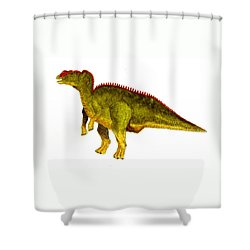 Hadrosaurus Shower Curtain by Michael Vigliotti