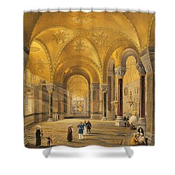 Haghia Sophia, Plate 12 The Meme Shower Curtain by Gaspard Fossati