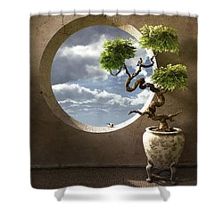 Haiku Shower Curtain by Cynthia Decker