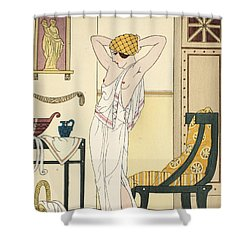 Hair Washing Shower Curtain by Joseph Kuhn-Regnier