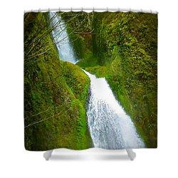 Hakeena Falls Long Shower Curtain by Susan Garren
