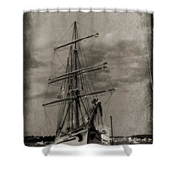 Halifax Harbour Shower Curtain by John Malone