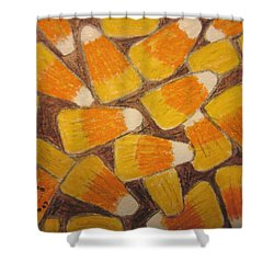 Halloween Candy Corn Shower Curtain by Kathy Marrs Chandler
