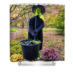 Halloween Witch Shower Curtain by Thomas Woolworth