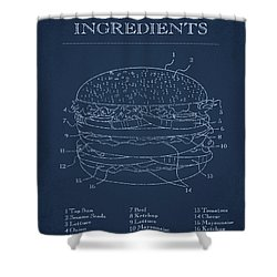 Hamburger Shower Curtain by Aged Pixel