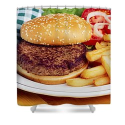 Hamburger & French Fries Shower Curtain by The Irish Image Collection